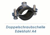 """31-37mm (1"""") Schraubrohrschellen M8/M10 Edelstahl A4 (1 Stk.)"""