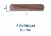 8 x 30mm Riffeldübel Buche (100g = ca.105 Stk)
