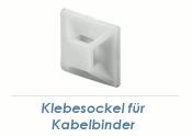 27 x 27mm Klebesockel für Kabelbinder weiss (10 Stk.)