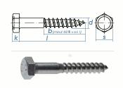 8 x 60mm Sechskant-Holzschrauben DIN 571  Edelstahl A2 (1...